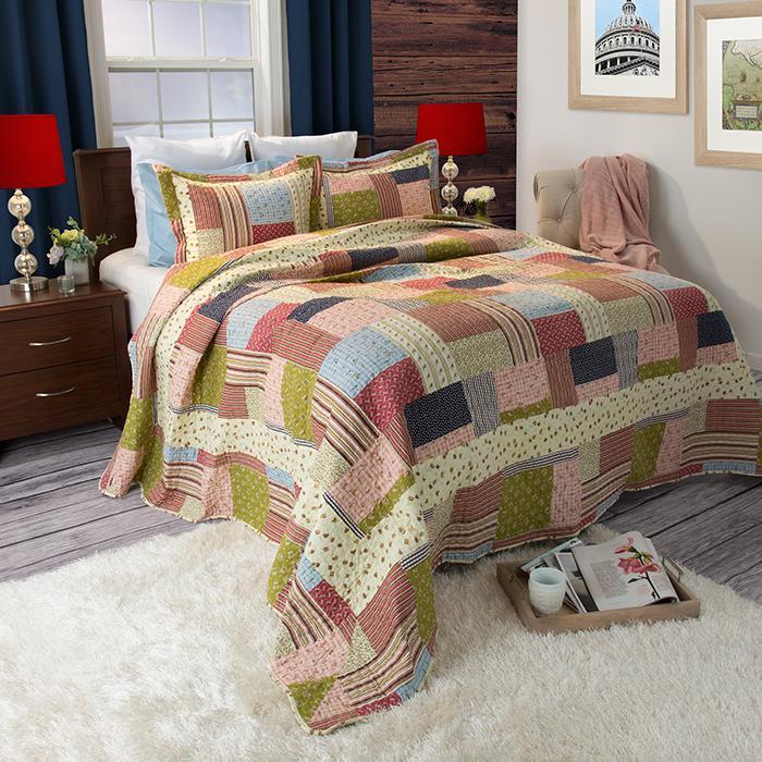 Lavish Home 2-piece Savannah Quilt Set - Twin