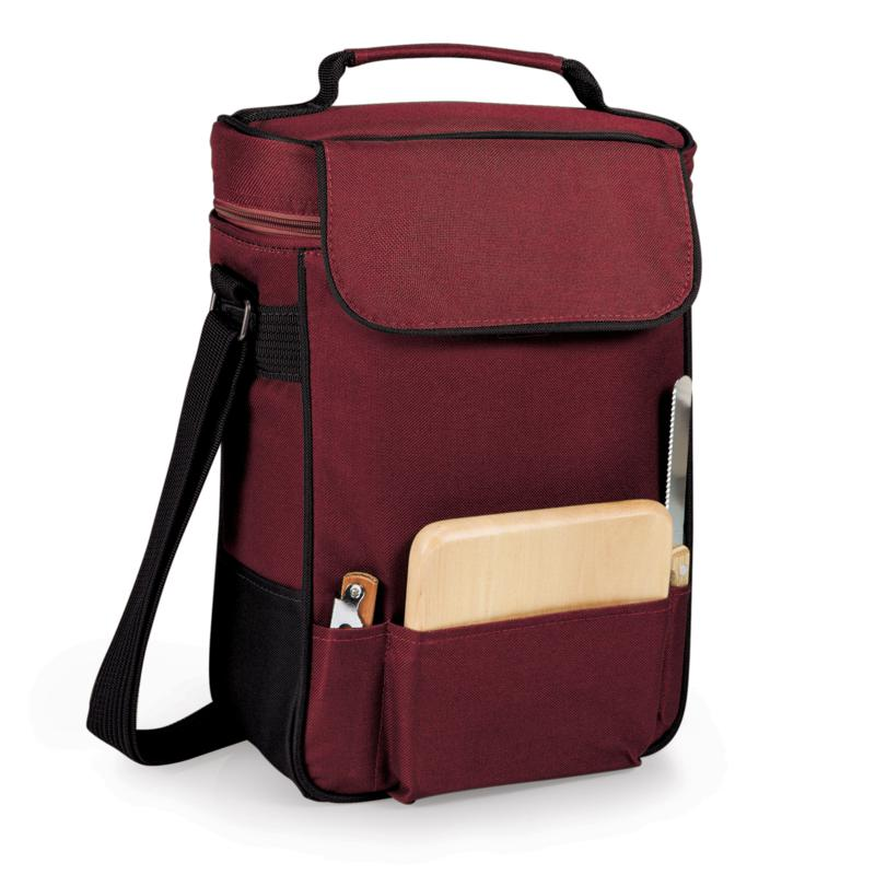 Legacy by Picnic Time Duet Wine & Cheese Tote - Burgundy