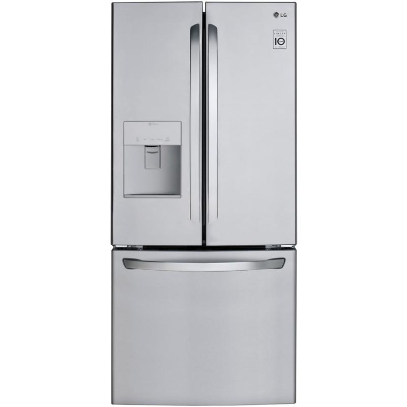 LG 22 Cu. Ft. 3-Door French Door Refrigerator - Stainless Steel