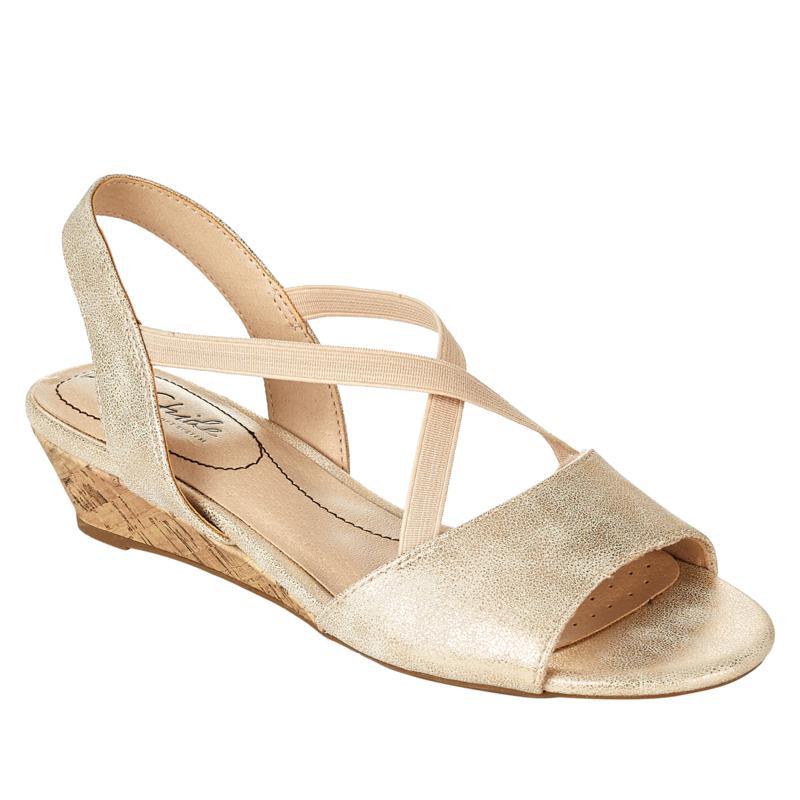 LifeStride Yolo Cork Wedge Sandal