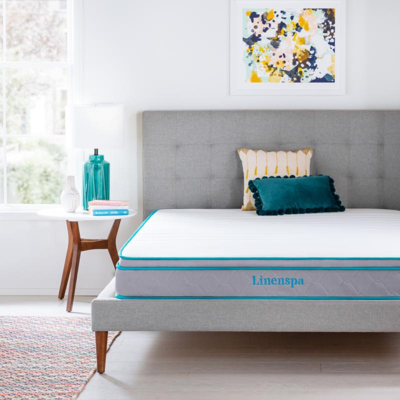 "Linenspa Essentials 8"" Gel Memory Foam Hybrid Mattress - Cal King"