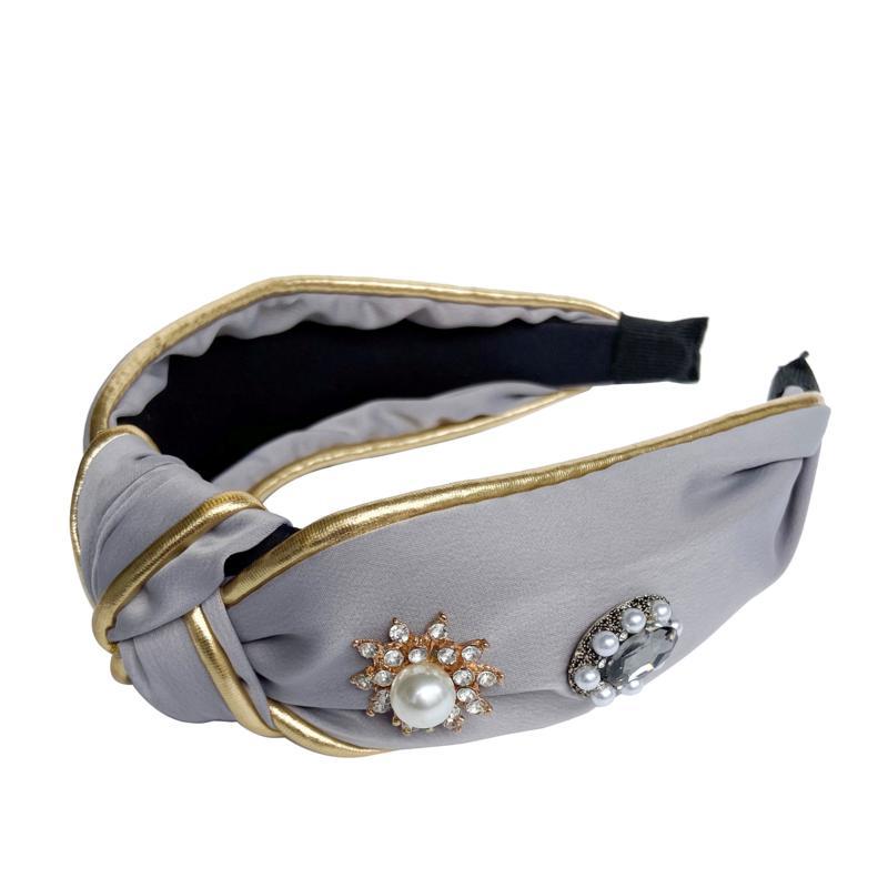 Locks & Mane Hair Accessories Jeweled Knotted Headband