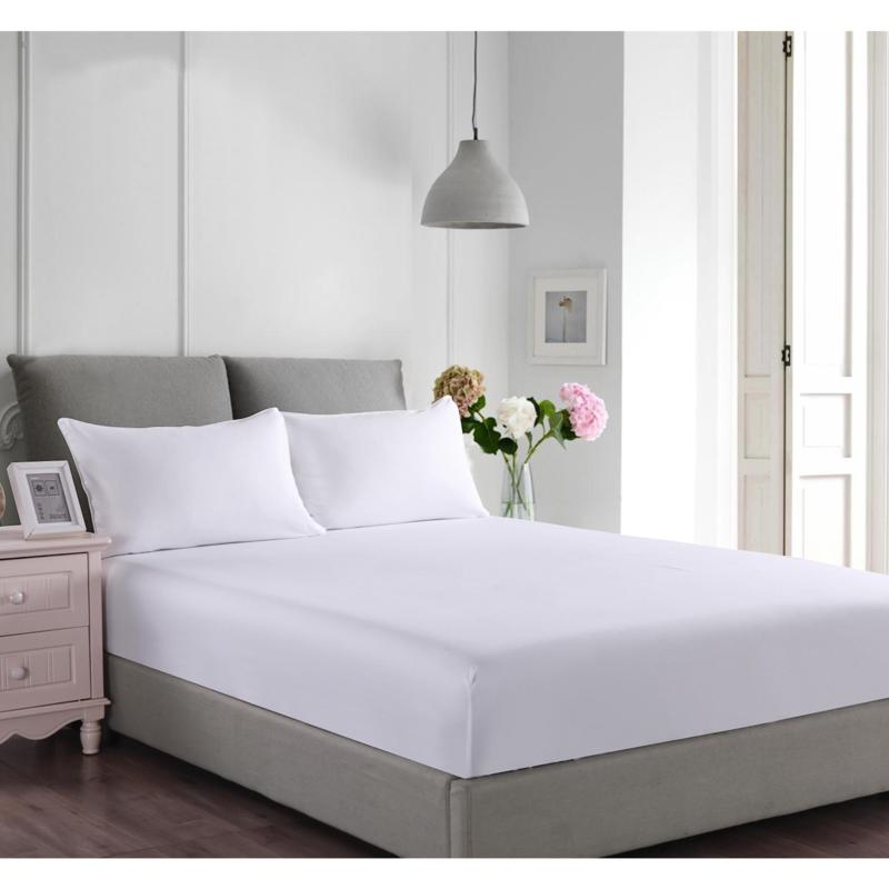 Lotus Home Stayclean Bacteria-Reducing Microfiber Fitted Bed Protector