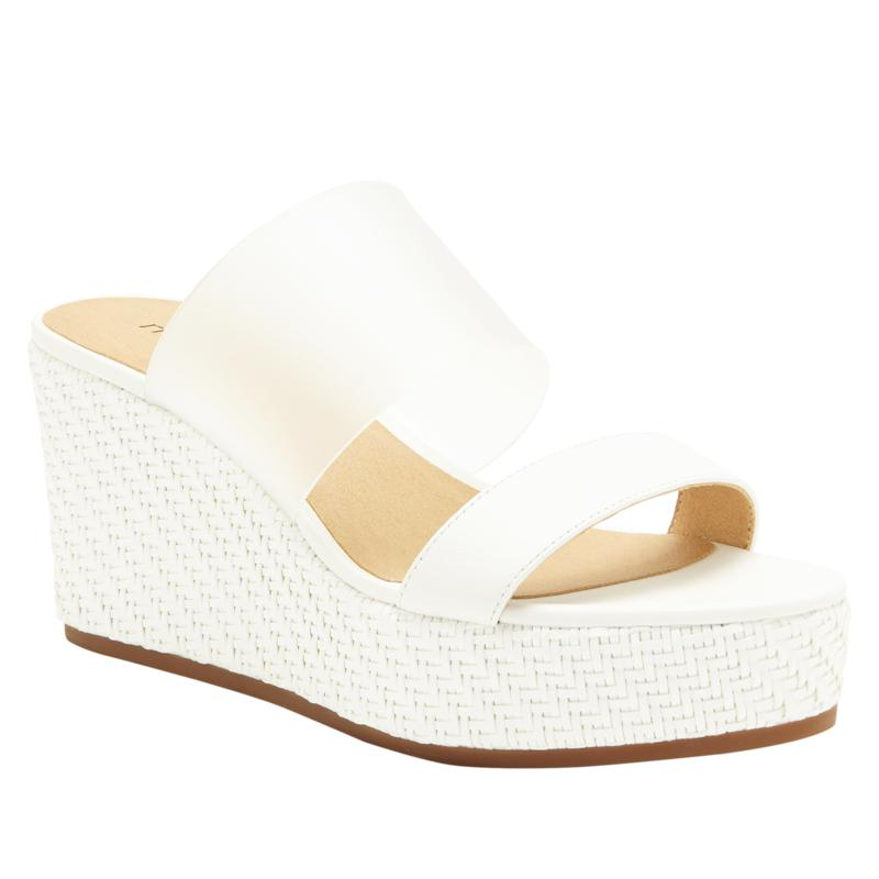 Lucky Brand Brindia Leather Platform Wedge Sandal
