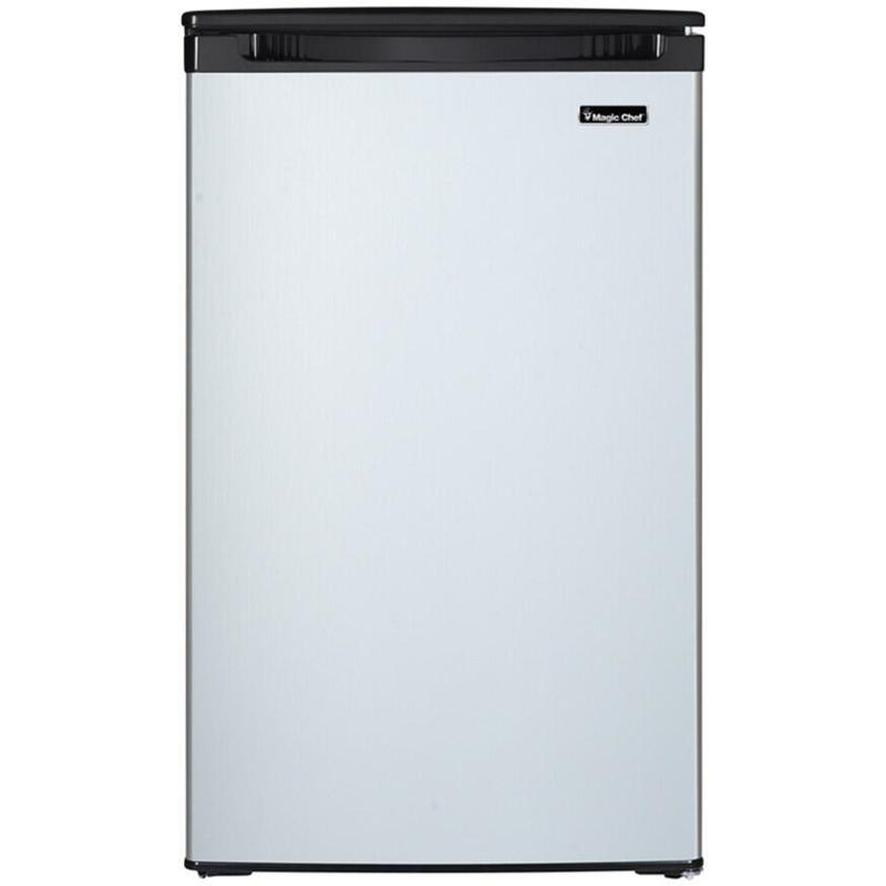 Magic Chef 4.4 Cu.Ft. All Refrigerator - Stainless Steel