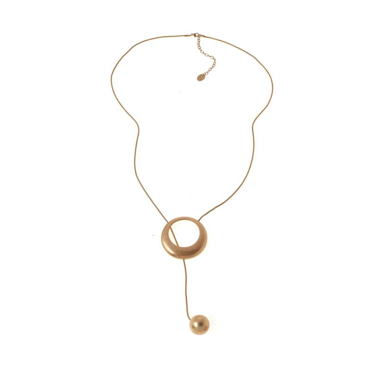 """MarlaWynne 40"""" Lariat-Style Ball Necklace"""