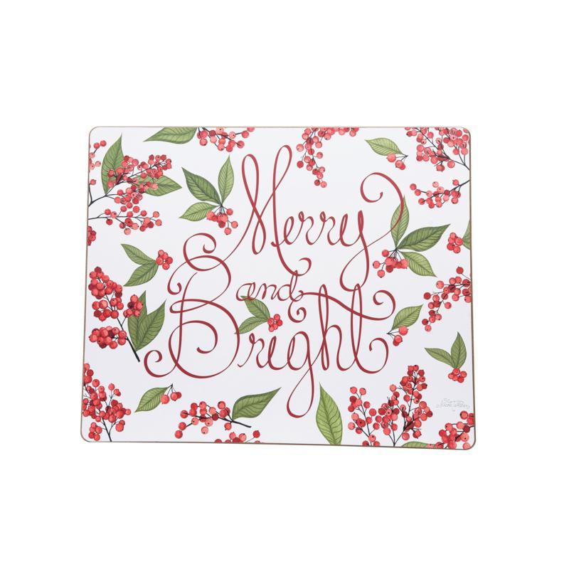 Merry & Bright Berries Hardboard Placemat 6-Pack
