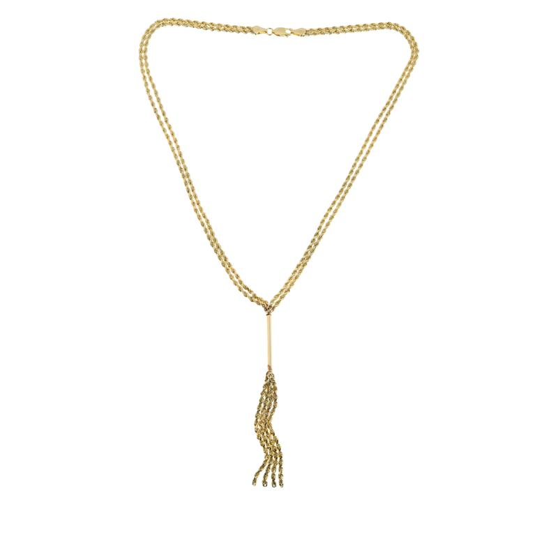 Michael Anthony Jewelry® 10K Gold Bar Rope Chain Lariat Necklace