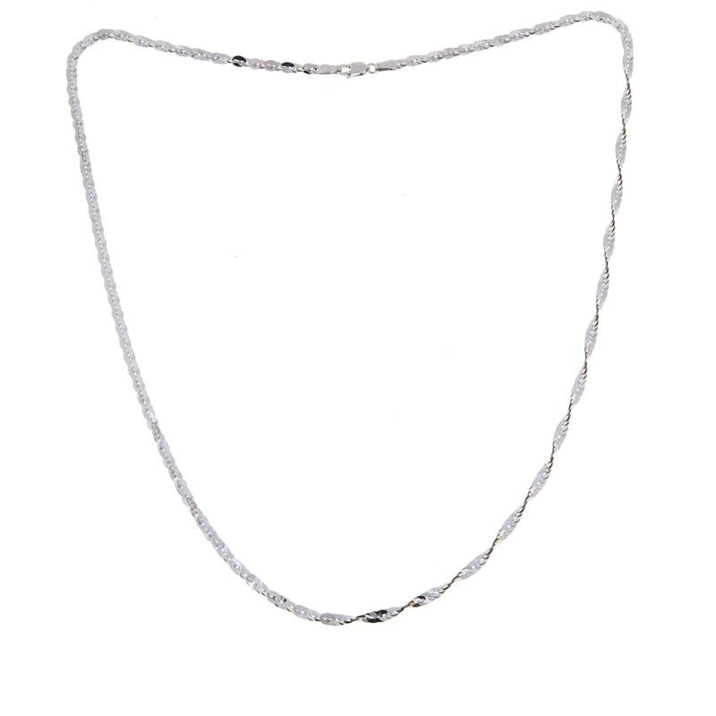 "Michael Anthony Jewelry® 10K White Gold Cleo Chain 20"""
