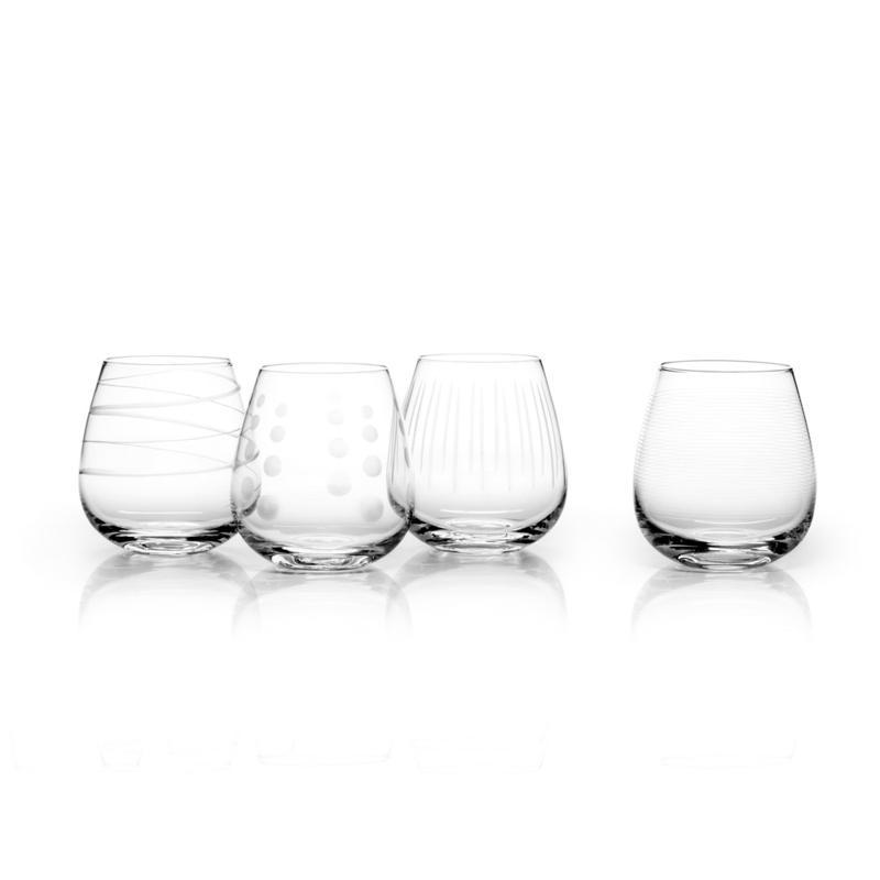 Mikasa Cheers Stemless Wine Glass Set of 4