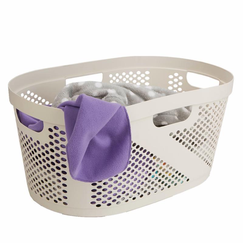 Mind Reader 40L Laundry Basket - Ivory