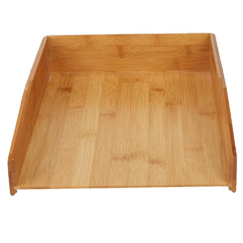 Mind Reader Bamboo File Tray Desk Organizer - Brown