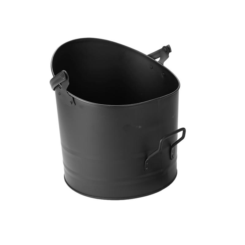 Mind Reader Large Metal Fireplace Ash Bucket with Handle