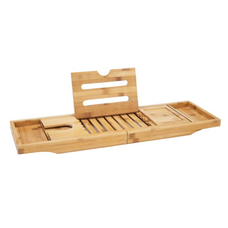 Mind Reader Premium Extendable Bamboo Bath Caddy