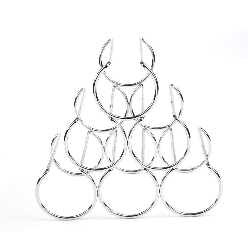 Mind Reader Pyramid-Shaped 6-bottle Wine Rack