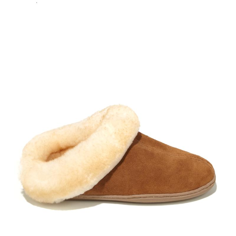 Minnetonka Suede Sheepskin Mule Slipper