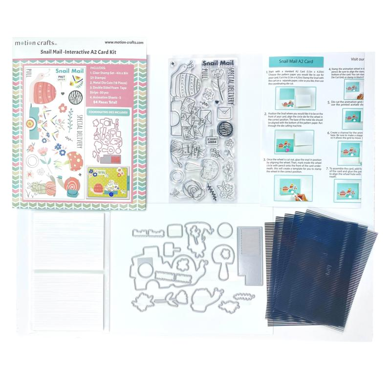 Motion Crafts Snail Mail All-in-One Stamp & Die Kit