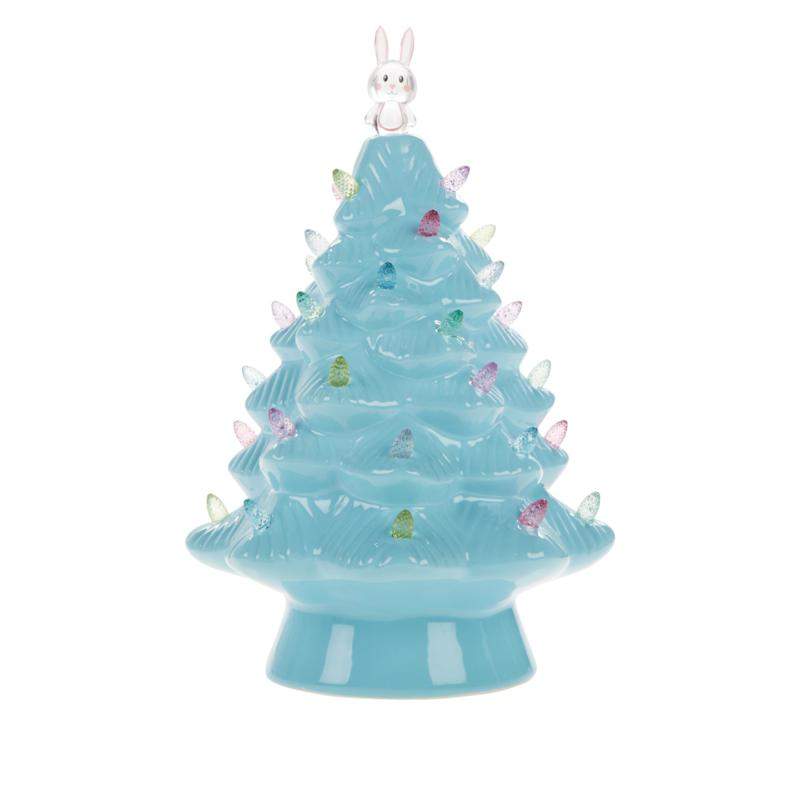 """Mr. Cottontail 12.5"""" Nostalgic Easter Tree with Timer"""