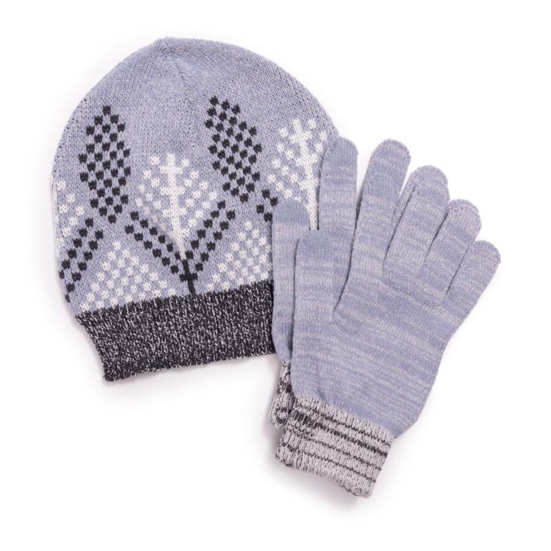 MUK LUKS Women's 2-piece Beanie and Glove Set