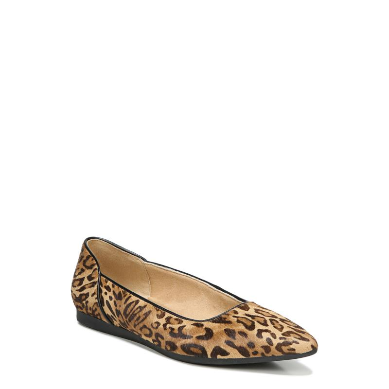 Naturalizer Rayna Haircalf Leather Leopard Print Ballet Flat