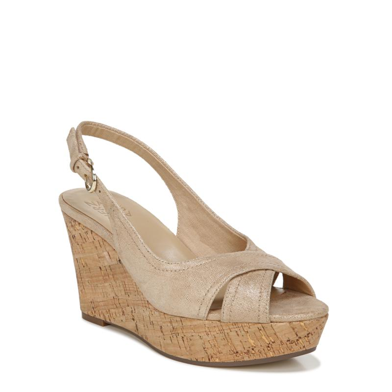 Naturalizer Zander Slingback Peep-Toe Wedge Sandal
