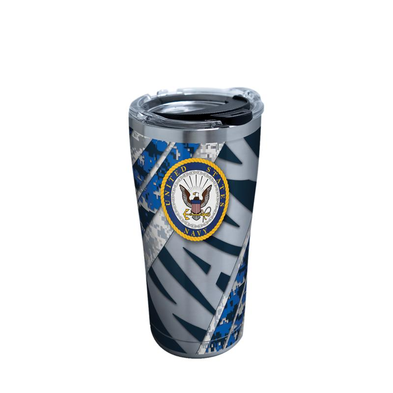 Navy 20 oz Stainless Steel Tumbler with lid