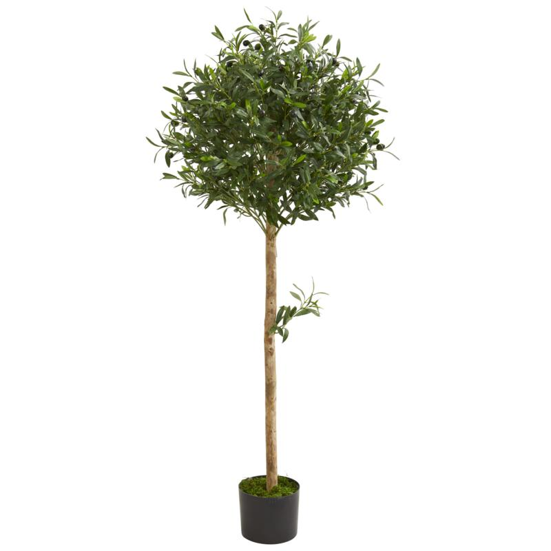 Nearly Natural 5 ft. Artificial Olive Topiary Tree