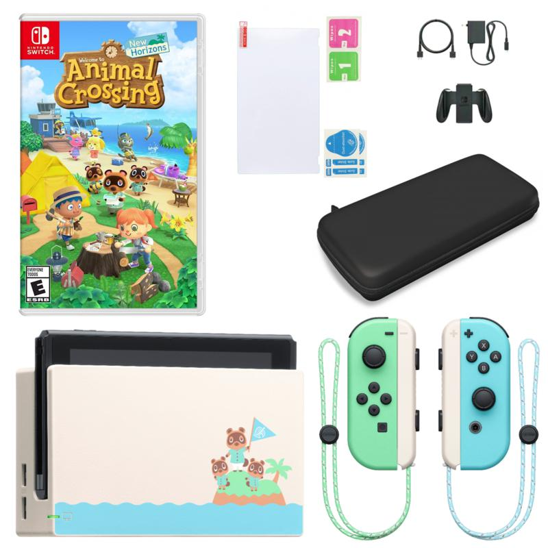 Nintendo Switch Animal Crossing Console w/New Horizons & Accessories