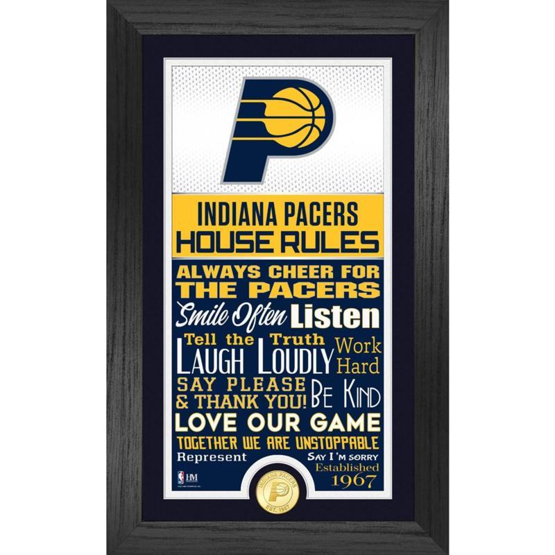 Officially Licensed Indiana Pacers House Rules Bronze Coin Photo Mint