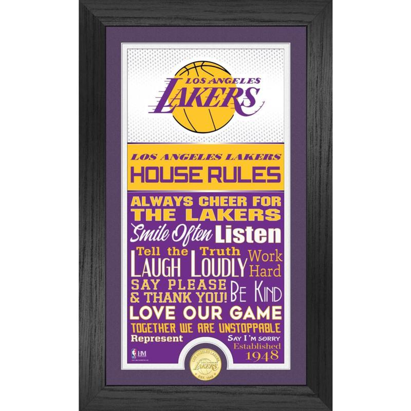 Officially Licensed Los Angeles Lakers House Rules Coin Photo Mint