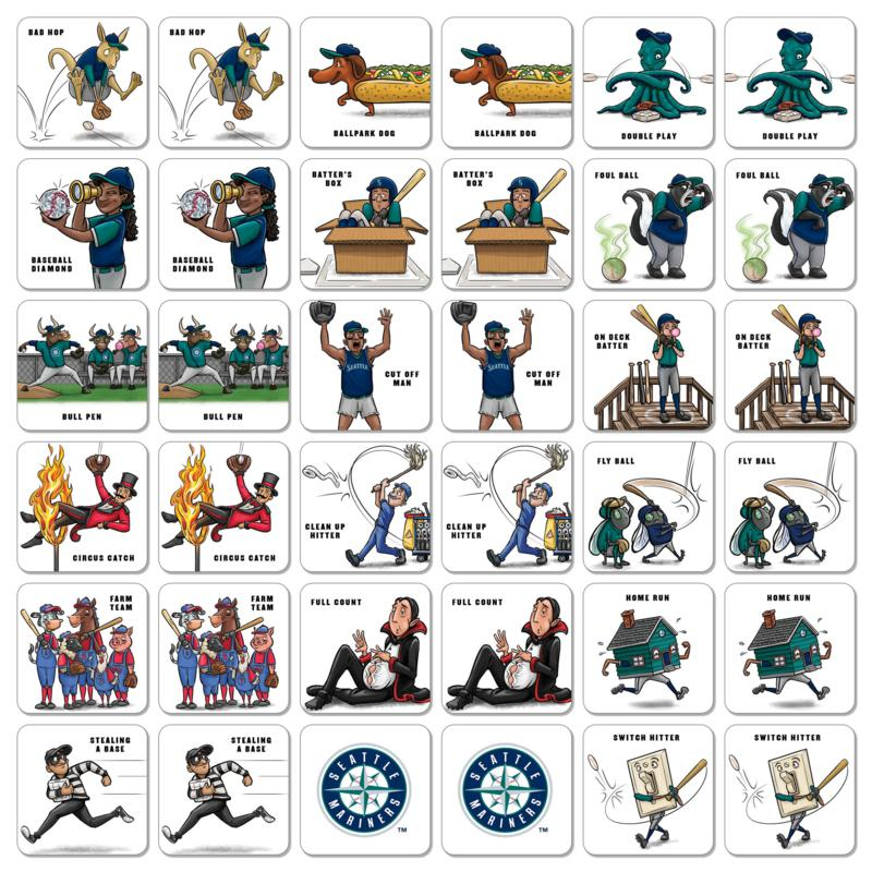Officially Licensed Mlb Licensed Memory Match Game Seattle Mariners 9955977 Hsn