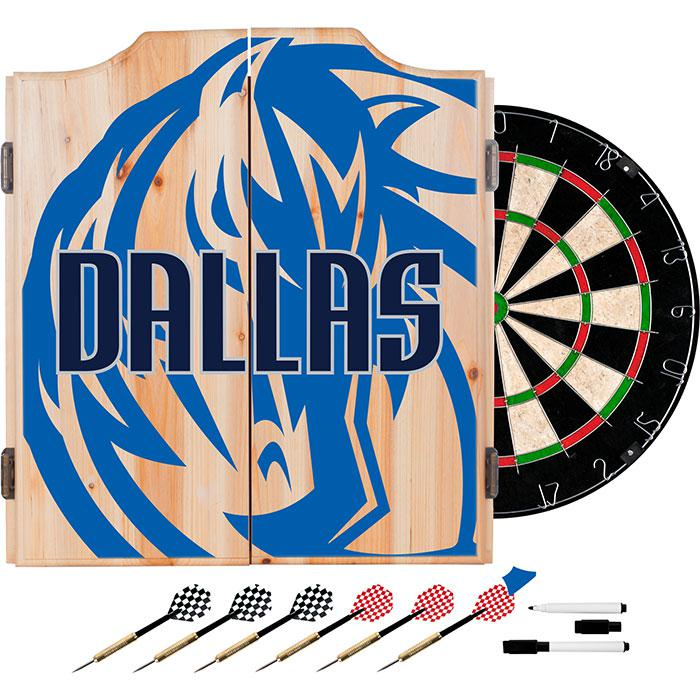 Officially Licensed NBA Dart Cabinet Set - Fade - Dallas Mavericks