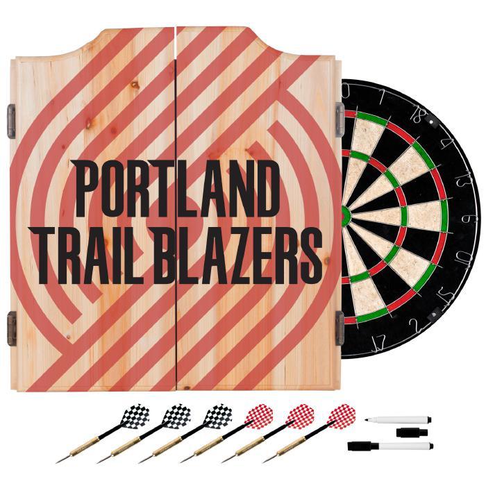 Officially Licensed NBA Dart Cabinet Set - Fade- Portland Trailblazers