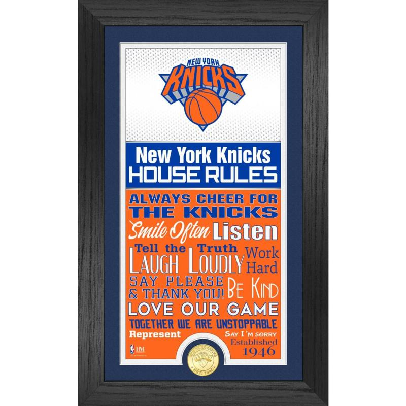 Officially Licensed New York Knicks House Rules Bronze Coin Photo Mint