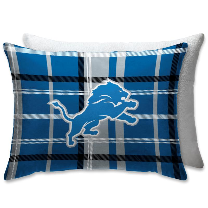 """Officially Licensed NFL 20"""" x 26"""" Plush Bed Pillow - Detroit Lions"""
