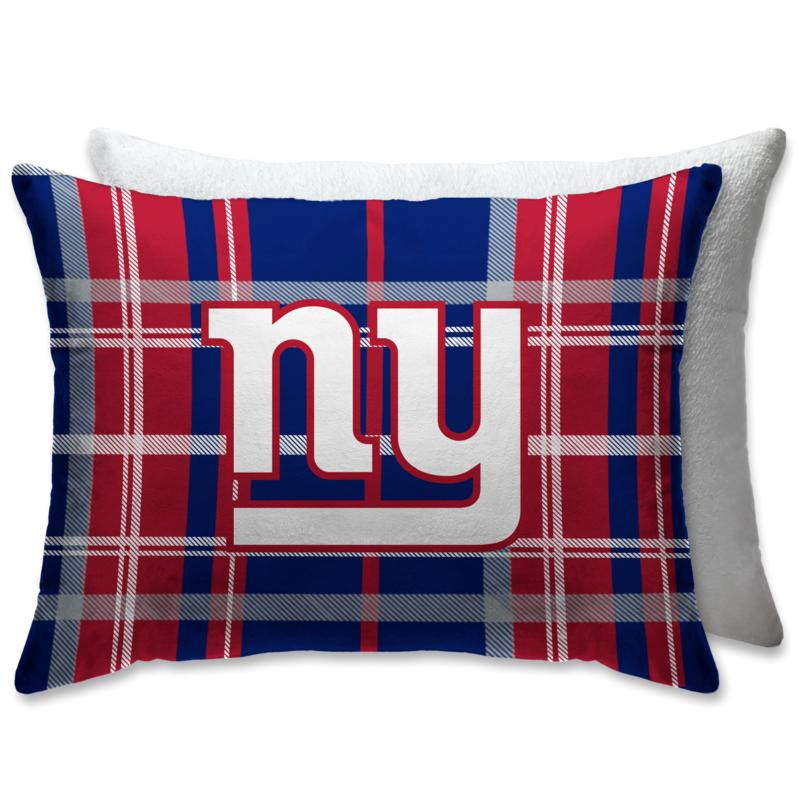 """Officially Licensed NFL 20"""" x 26"""" Plush Bed Pillow - New York Giants"""