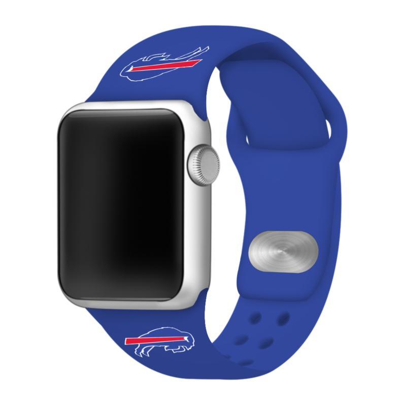 Officially Licensed NFL 42mm/44mm Apple Watch Med. Sport Band - Bills