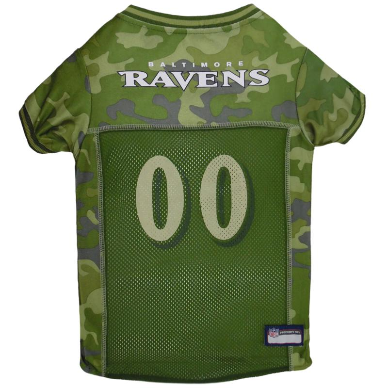 Officially Licensed NFL Camo Pet Jersy - Baltimore Ravens