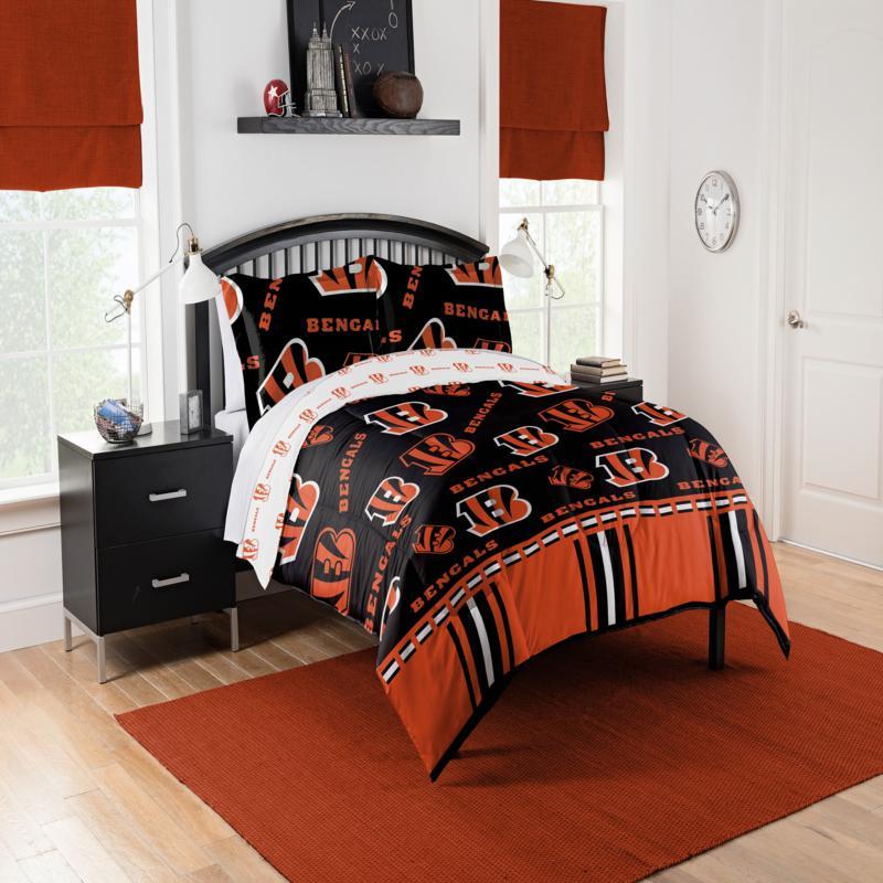 Officially Licensed Nfl Queen Bed In A, Bengals Queen Bedding