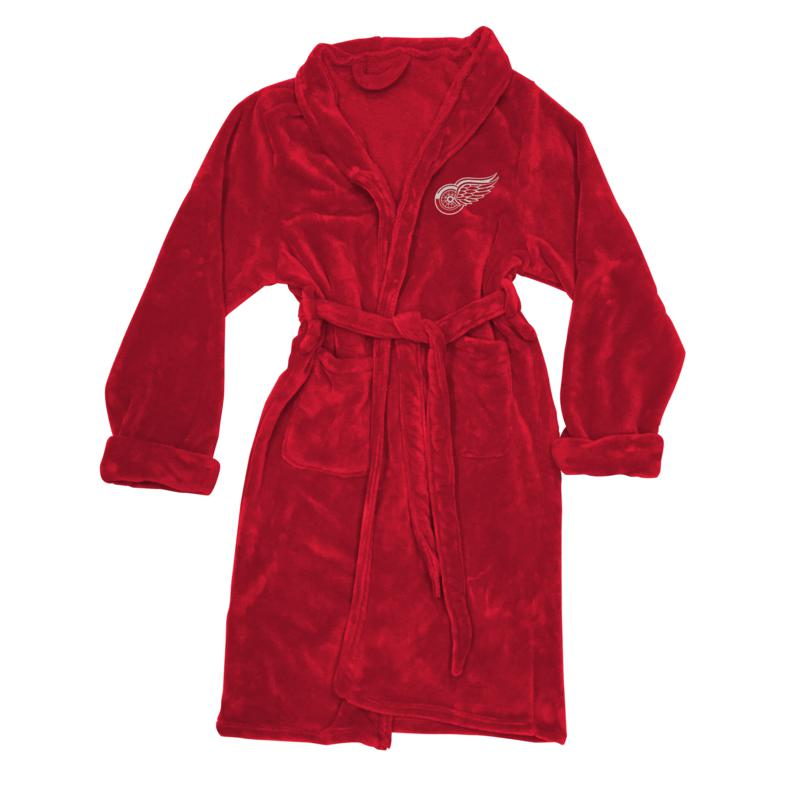 Officially Licensed NHL L/XL Men's Bathrobe - Red Wings