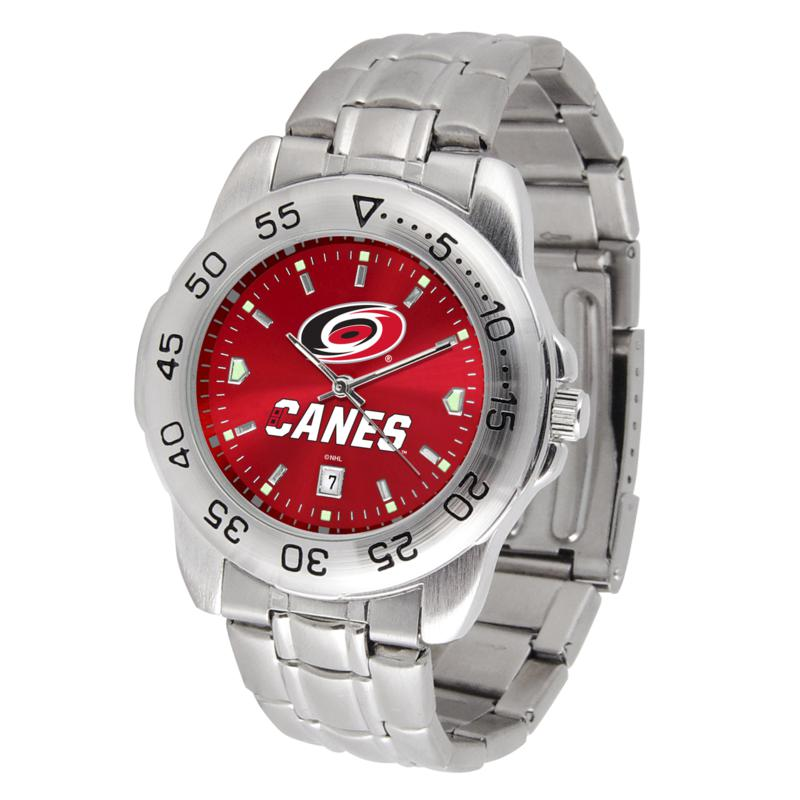 Officially Licensed NHL Sport Steel Series Watch - Carolina Hurricanes
