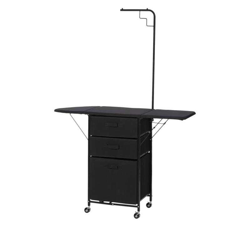 Origami 3-Drawer Rolling Laundry and Ironing Station