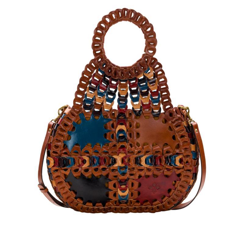 Patricia Nash Pisticci Linked Leather Shoulder Bag
