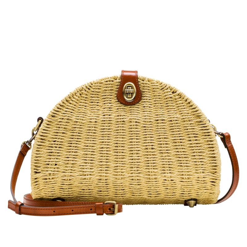 Patricia Nash Susella Spring Wicker Crossbody Bag