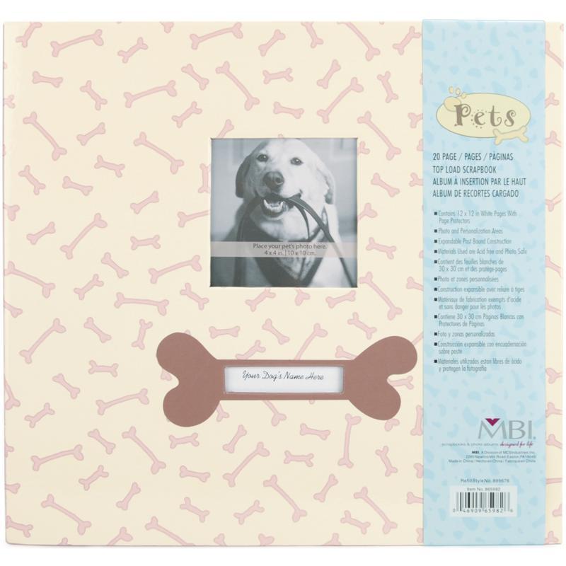 "Pet 12"" x 12"" Postbound Album with Photo Window - Dog"