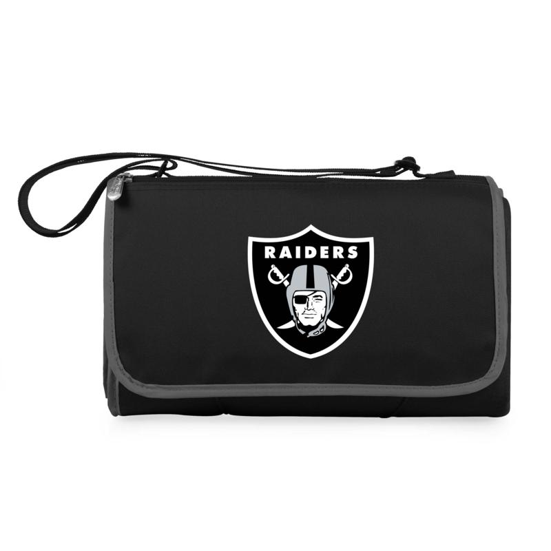 Picnic Time Officially Licensed NFL Picnic Blanket - Las Vegas Raiders