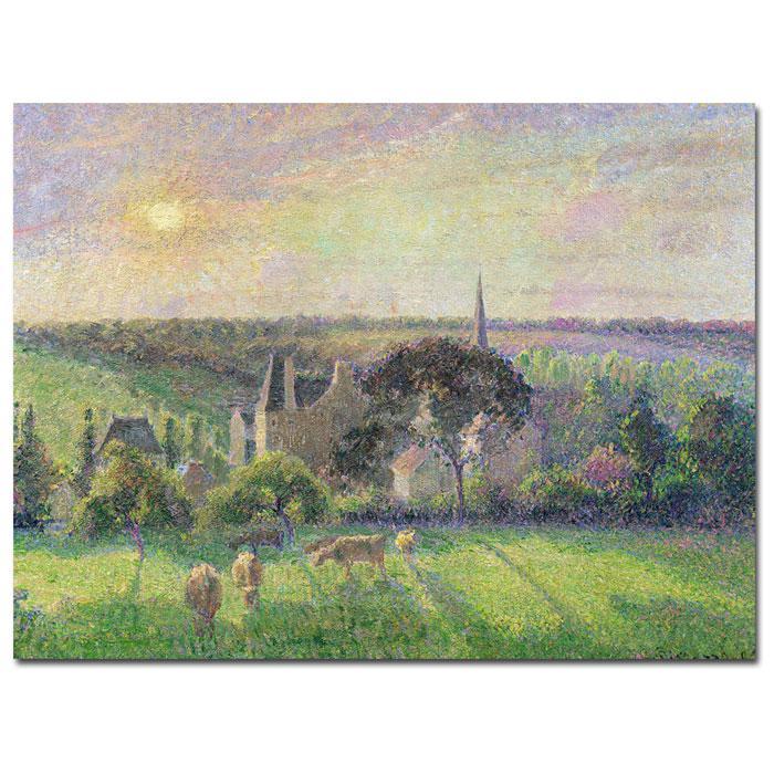 Pissarro 'The Church and Farm of Eragny 1895' Print
