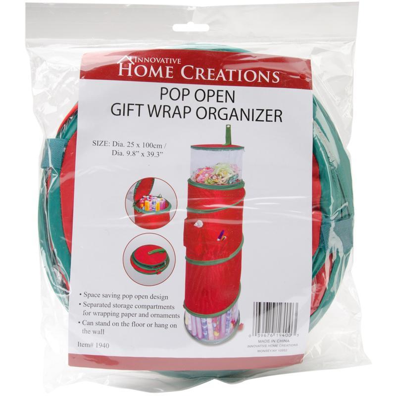 "Pop-Open Christmas Gift Wrap Organizer - 9.8"" x 39.3"""