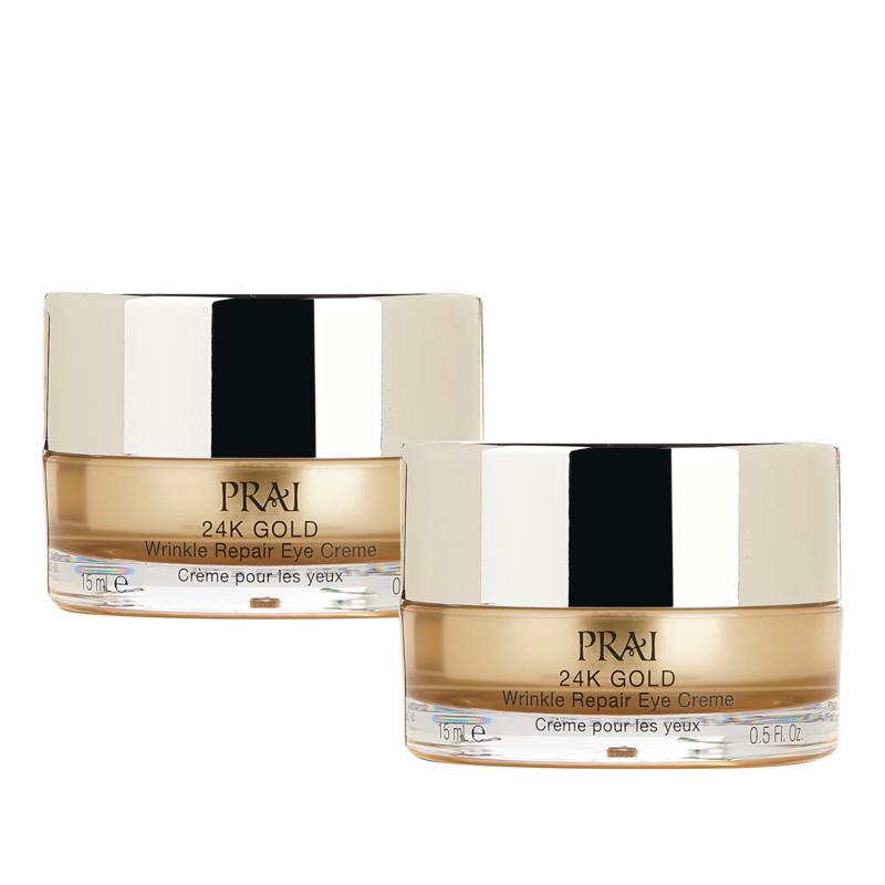 PRAI 2-pack .5 oz. 24K Gold Wrinkle Repair Eye Creme