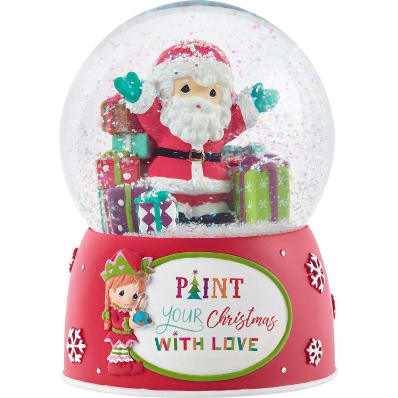 Precious Moments 11th Annual Santa/4th Annual Elf Musical Snow Globe
